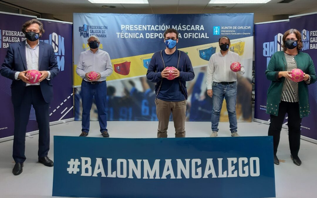 Presentado el prototipo de mascarilla Amura Sport para el balonmano gallego